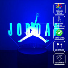 3D Jordan Basketball LED Acrylic Night Light Touch Table Lamp Kids Gift  Change