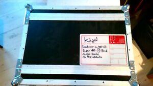19 Zoll Flight Case Kiste 4 HE robust gut schwarz Alu Deckel vorne/hinten
