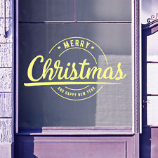 Merry Christmas Xmas Happy New Year Display Window Wall Snow Decal Stickers A415