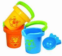 GOWI 558-12 Spielwaren Sandspielzeug Wasserspielzeug Badeeimer Set 3 im Netz