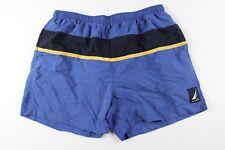 Vintage 90s Nautica Mens 2XL Spell Out Swimming Swim Trunks Shorts Blue Nylon