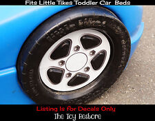 1 Replacement Decal Sticker fits Little Tikes Toddler Car Bed Carbed White Rim