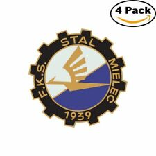 FKS Stal Mielec Poland Soccer FC Logo 4 Stickers 4X4 Inches