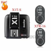 Godox X1T-S TTL 2.4G Flash Transmitter + 2X XTR-16 Receivers Set For Sony Cam