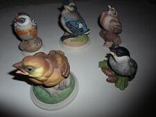 BOEHM PORCELAIN BIRDS- SET OF 5 - MINT CONDITION