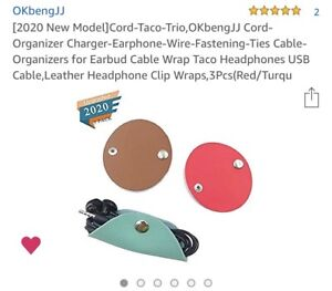Cord-Taco-Trio,Puiuisoul Leather Cord Organizer Charger Earphone Wire Fastening