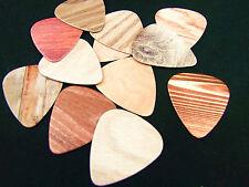 10x Guitar Picks Plectrums 0.71mm Musical Accessories Personal Wood Grain Effect