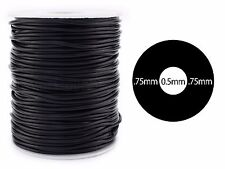 Black Hollow Rubber Cord - 10 Yards - 2mm Round - Beading Jewelry Crafts Tubing