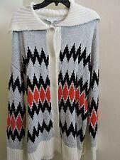 Vince Camuto Cotton Blend Indian Design 5 Buttoned Cardigan Size - XL
