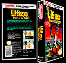 Ultima Quest of Avatar  - NES Reproduction Art Case/Box No Game.