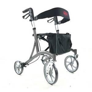 Antar Rollator Leichtgewicht faltbar große Räder Outdoor Rollator Rückengurt 7kg
