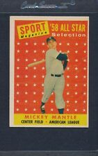 1958 Topps #487 Mickey Mantle All Star EX *1202