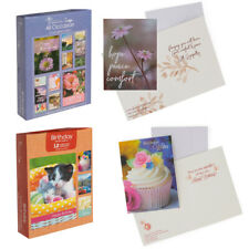 12pk Paper Craft Assorted Greeting Cards And Envelopes With Kjv Scripture Design