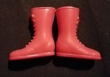 Red 1/6 scale plastic boots for 12 inch figure