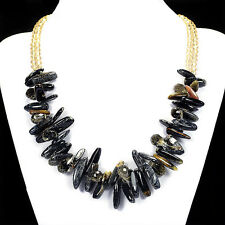 Natural Tiger's Eye Statement Necklace Handmade Gemstone Jewellery Tantric Tokyo