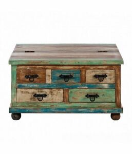 VINTAGE STYLE HANDMADE WOODEN COFFEE TABLE - FURNITURE