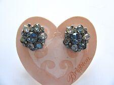 Brighton DIVINE FEMININE Earrings- blue crystals- flower design
