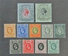 nystamps British East Africa & Uganda Protectorates Stamp # 40-50 Mint OG H $45