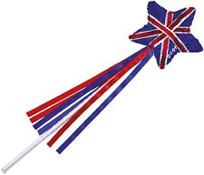 Girls Sequin Sparkly Union Jack Princess Wand Fancy Dress Costume Accessory