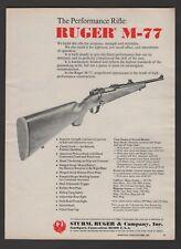 1973 Sturm Ruger M-77 Rifle Shooting Times  Vintage Print Ad G73