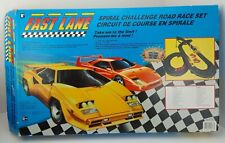 Fast Lane Spiral Road Race F40 Lambo COMPLETE SET Electric Slot Car Vintage 1991