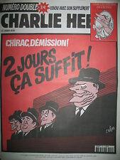 CHARLIE HEBDO 516 CHIRAC DEMISSION PAR CABU LUZ CHARB WOLINSKI TIGNOUS GéBé 2002