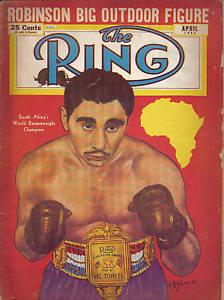 1952 (Apr.), The Ring, boxing, magazine, Vic Toweel, World Bantam Champion Fair