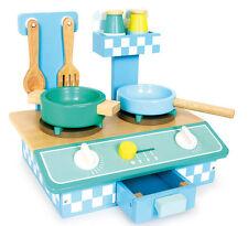Kinderküche Holz pastellfarbig mit Zubehör Puppen-Küche Spielküche Puppenkinder