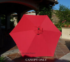 9ft Replacement Market Umbrella Canopy 6 Ribs in Red (Canopy Only)
