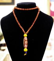 Certified Top Quality Ancient Tibetan Buddhist 5 Eye Dzi Bead Necklace 五眼天珠和南红玛瑙