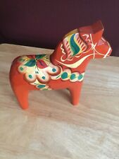 """Vintage 8"""" Tall Dala Horse made in Sweden"""