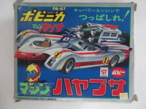 Chogokin car KEN FALCO SUPERBOLIDE MACHINE HAYABUSA PA-87 DieCast Bandai Popy