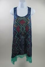 Women's Wrangler Aztec Print Racer Back Scoop Neck Tunic Tank Top ( Size: XL )