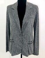 NWT Stitch Fix Sweater Blazer Jacket Womens Sz M Gray Chevron Tard Collections