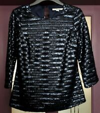 BODEN SEQUIN TOP NAVY SIZE 6 USED