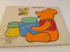 Vintage Walt Disney Productions Wooden Chipboard Puzzle Winnie the Pooh 10 pc