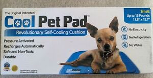 The original Cool Pet Pad Self Cooling Cushion, Dogs, Cats, Size Small, Box damg