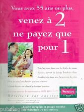 Publicité advertising 2001 Hotel Mercure