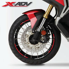 Honda X-adv motorrad Felgen Rand Aufkleber rim stickers streifen cbr x adv Rot