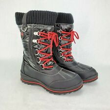 Storm By Cougar Boys Girls Winter Waterproof Boots Cailey  Sz 3M Black & Red