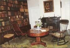 Postcard Massachusetts Concord Ralph Waldo Emerson House Interior Study MINT