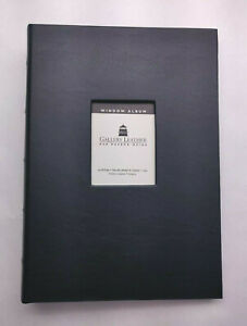 "Gallery Leather Window Photo Album - Black - 4"" x 6"" - 30 Pages - Made in USA"