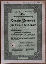 200 Reichsmark 1935 Loan Bond - Series: 068470