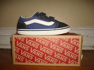Vans Old Skool V/ US 10 (Toddler)/ Navy & Blue/ VN000D3YNVY