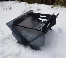 Fire Pit - Flat Pack, camping BBQ, Spit, 4mm STEEL FEATURE PACKED 700mm X 580mm