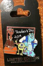 Disney Teacher's  Day 2014 Pin Monster's University Mike Sully Pixar LE2000