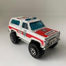 Matchbox 4x4 Chevy Blazer scale model diecast toy Sheriff jeep 1983 made Macau