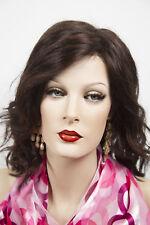 Dark Brown Dark Auburn Blonde Medium Lace Front Jon Renau Wavy Straight Wigs