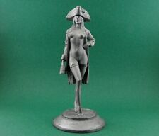 Tin toy soldier Pirate Grace O'Malley. Metall sculpture 1/24 scale