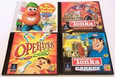 (4) Hasbro Interactive Software Pc Cd Rom Tonka Kids Computer Games
